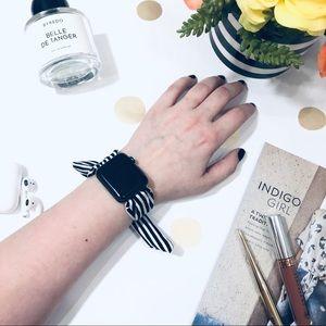 {KARSYN} Apple Watch band tie wrap striped strap